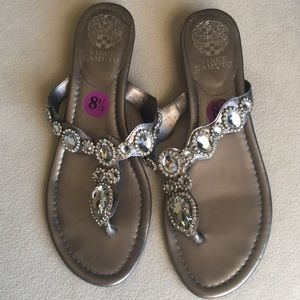 Vince Camuto Shoes - Vince Camuto embellished thong sandals sz 8.5